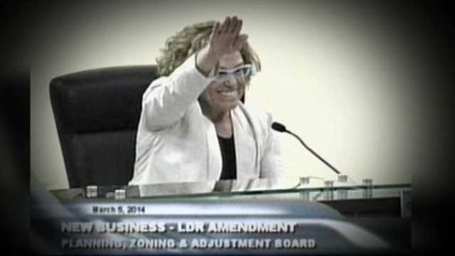 """Dr. Marcia Radosevich stunned those in attendance at a recent board meeting in Wellington when she gave the Nazi salute and said, """"Heil, Hitler."""""""