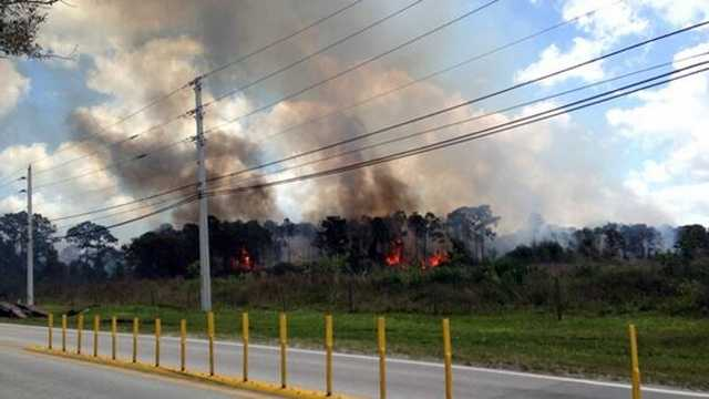 Brush fire evacuation
