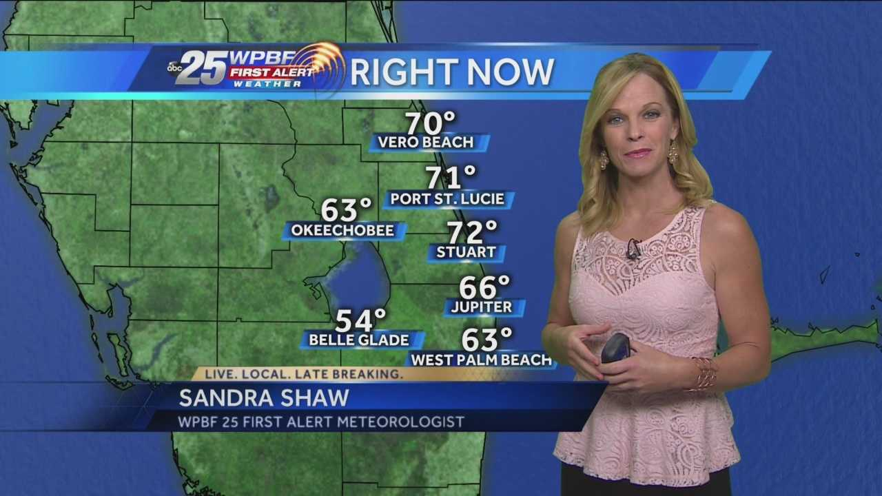 Sandra says a warm weekend is on the way to South Florida, with increased humidity.