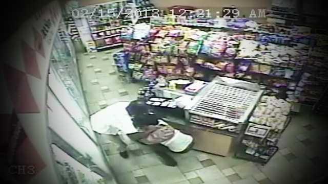 Screengrab Surveillance Gas Station Beating