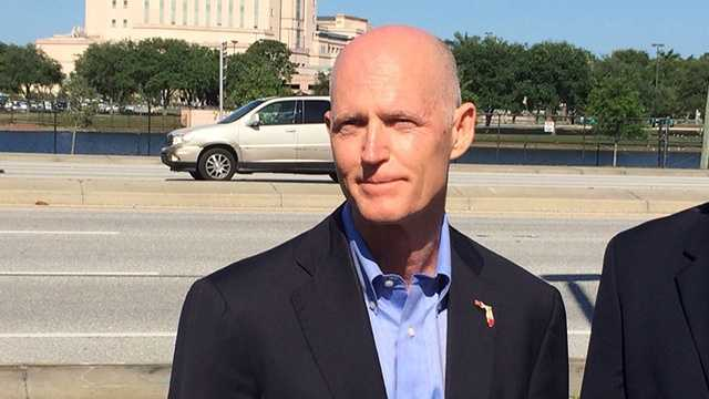 Gov. Rick Scott vowed in West Palm Beach on Tuesday to review federal hospitals throughout the state.