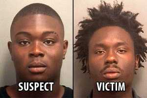 Fanex Similorme (left) is accused of shooting Kinley Lauriston at a strip club early Thursday morning.