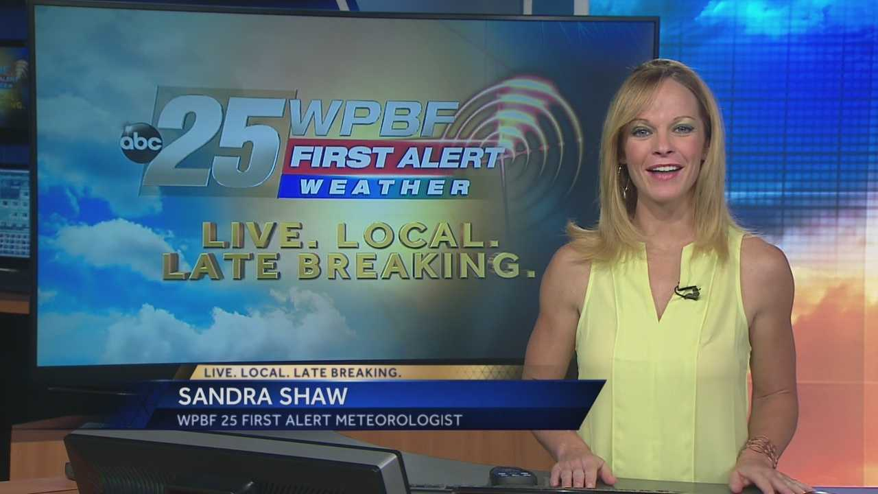 Sandra says showers and storms are on tap around South Florida on Tuesday.