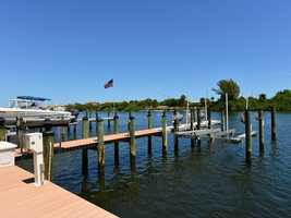 Newer seawall and deepwater dock for yachts in the 60' range, a 16,000lb lift and 1,500llb personal watercraft lift.