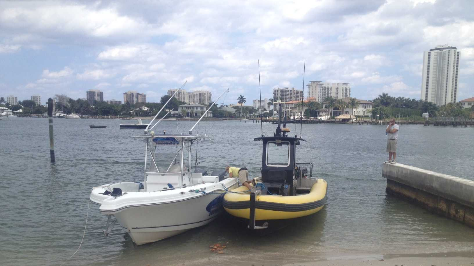 A birthday fishing party was cut short when the boat started taking on water and had to be towed back to shore Thursday.