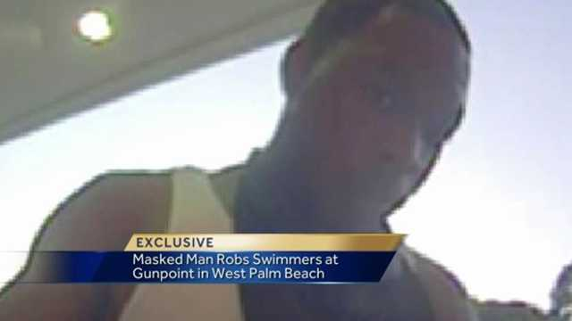 Image Man's robbery of swimmers' ATM card caught on video