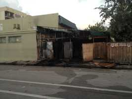 MAY 1: Fire damaged the South Shores Patio restaurant in Lake Worth early Thursday morning.