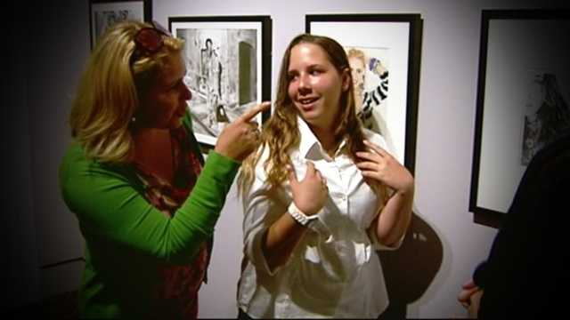 More than a decade after Alexandra Alfeo was the first child in Palm Beach County to receive a cochlear implant, her artwork is now on display at the Norton Museum Of Art.
