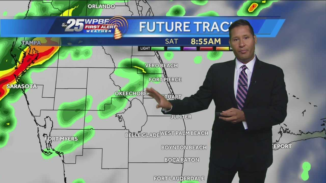 Cris says a soggy Saturday is on tap around South Florida.