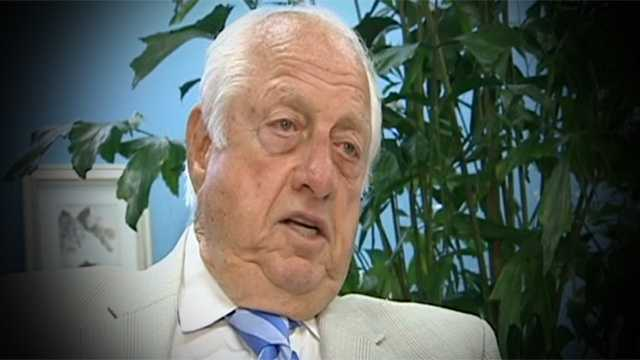 Baseball legend Tommy Lasorda was in Northwood on Tuesday, and he shared his take on the Donald Sterling comments as well as V. Stiviano.