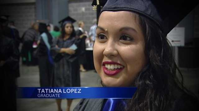 New grad Tatiana Lopez says it's a great feeling to see her patients regain their vision through cataract surgery.