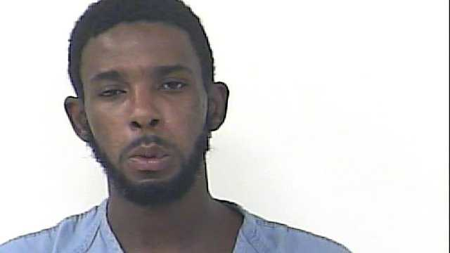 Tavares Docher is accused of attacking several deputies and firefighters in St. Lucie County over the weekend.