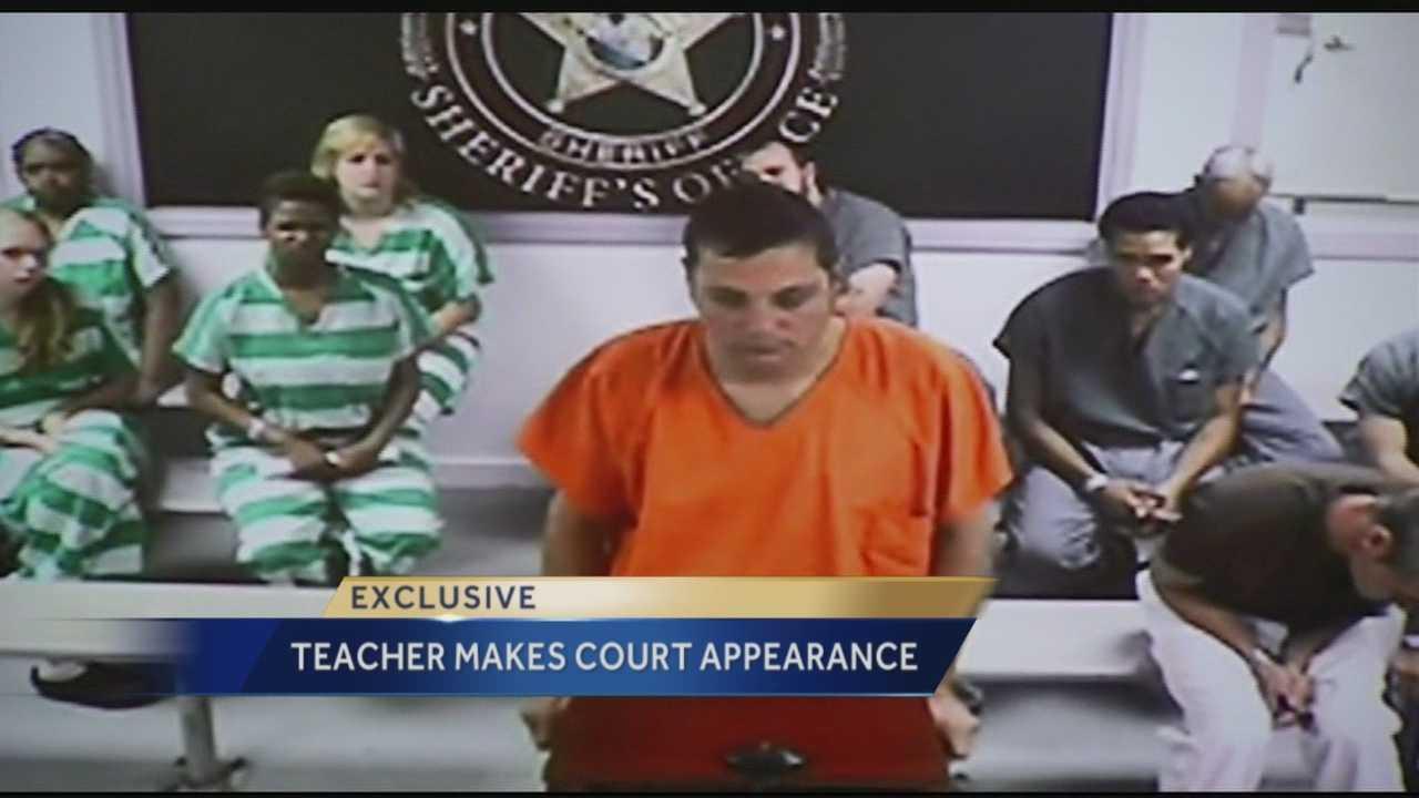 Teacher makes first court appearance