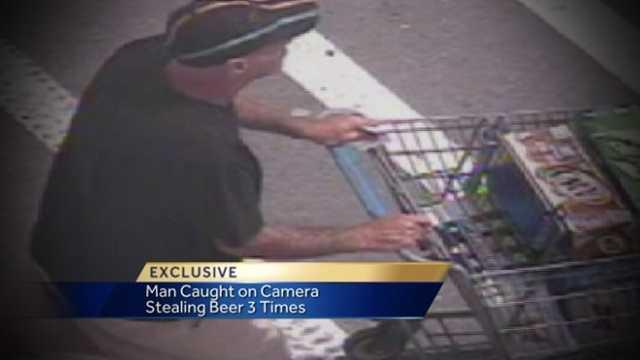 Budwiser Bandit: Man caught on camera stealing beer three times
