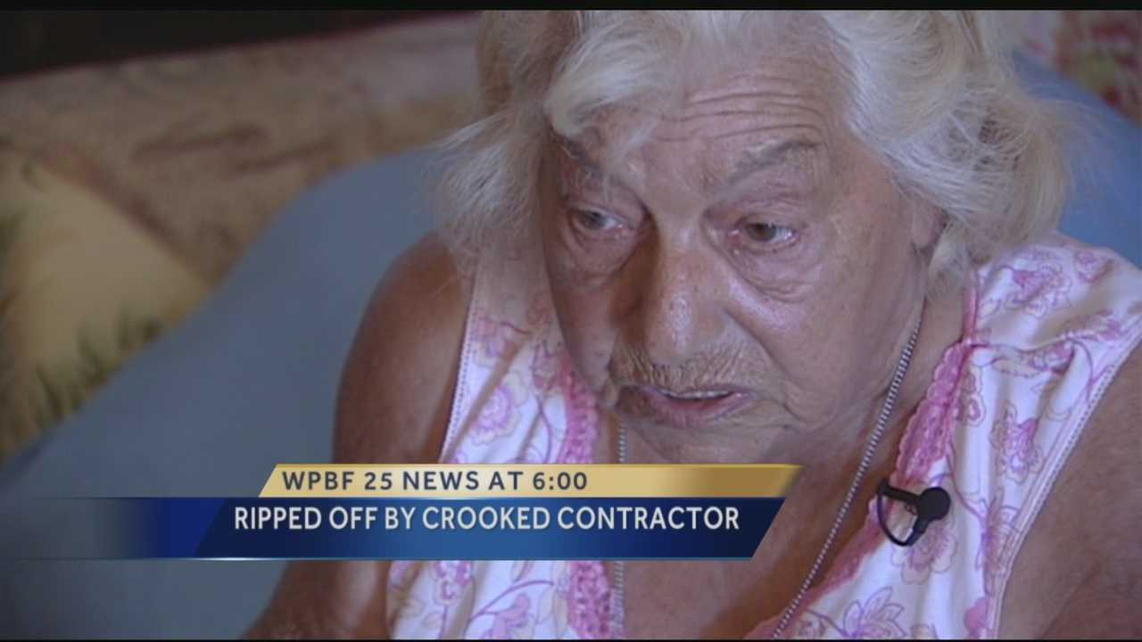 Police say a conman acting as a licensed contractor scammed an 89-year-old Boynton Beach woman out of thousands of dollars, promising her that he would remodel her kitchen. The man will face charges including exploiting the elderly.