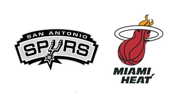 Spurs Heat Logo Side By Side