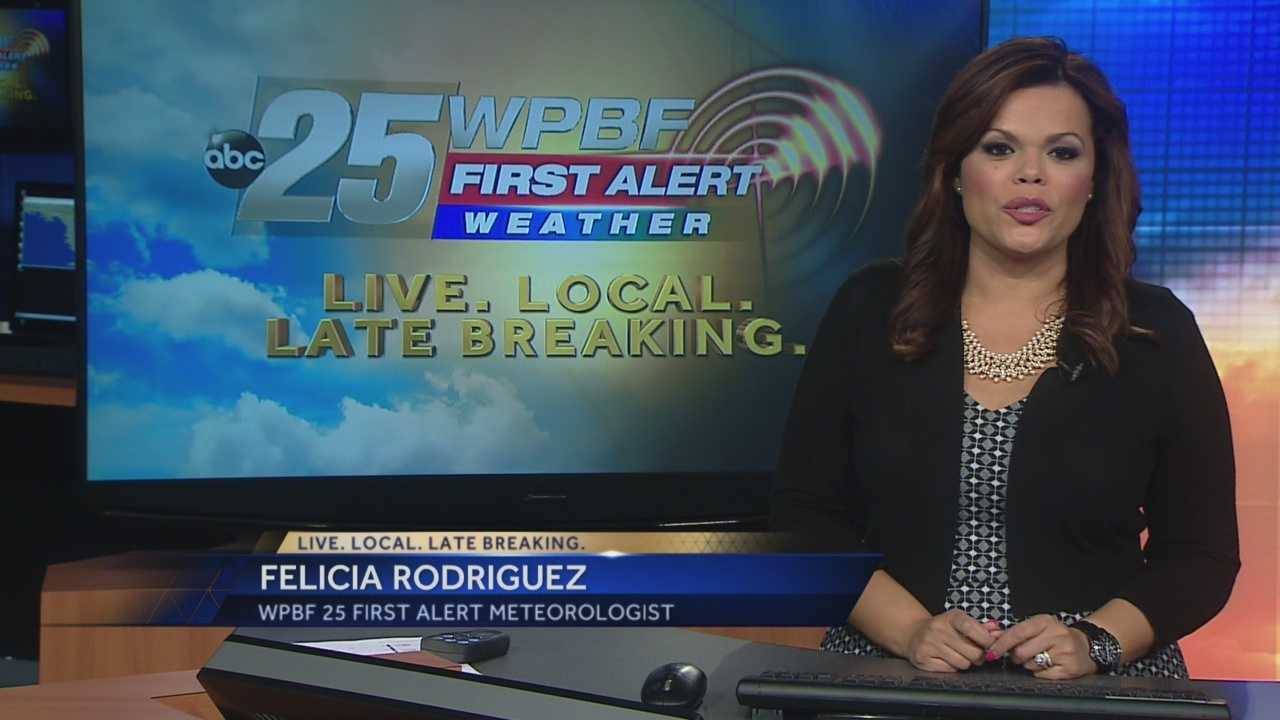 Felicia says high temperatures will push toward the 90-degree mark Friday, and chances for rain pick up Saturday and Sunday.
