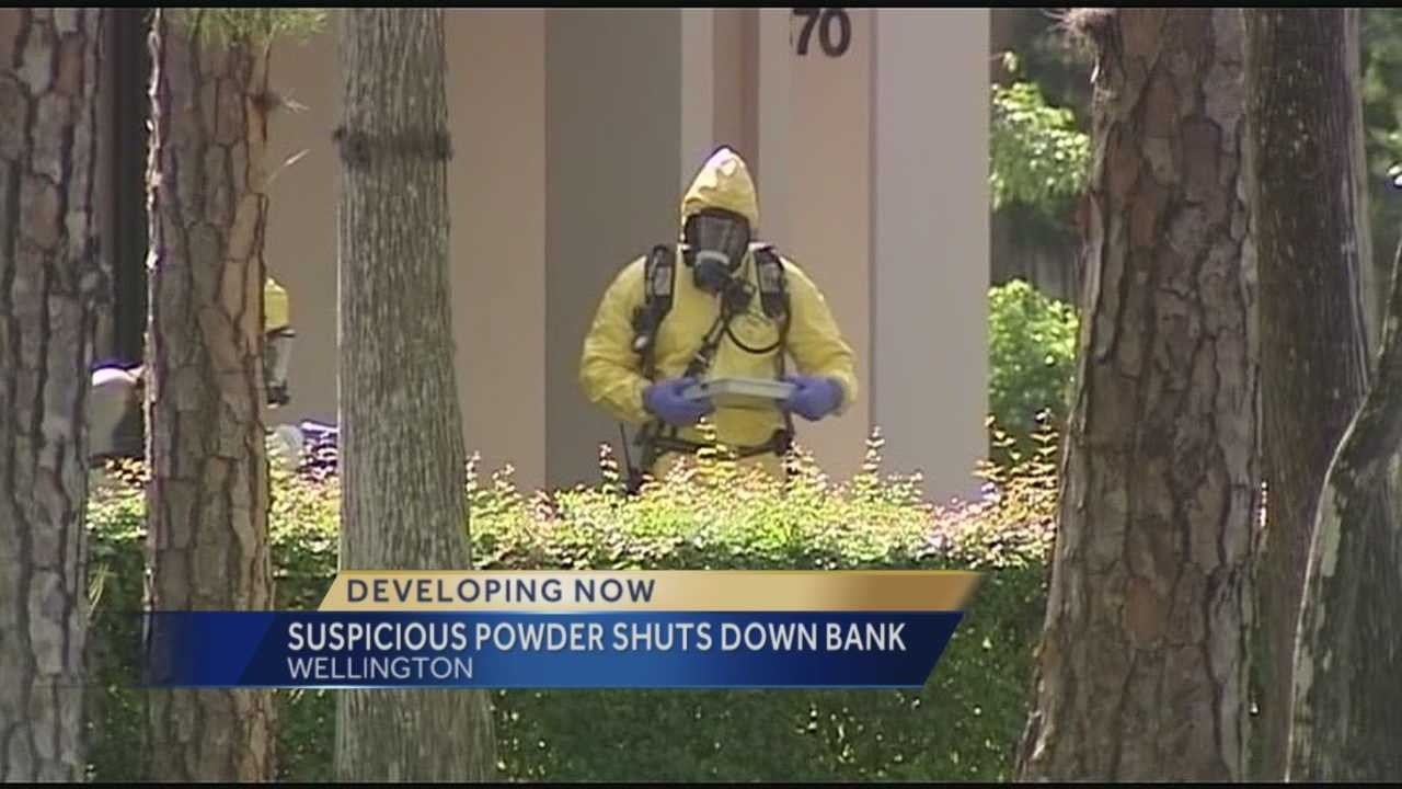 Suspicious powder shuts down Wellington bank
