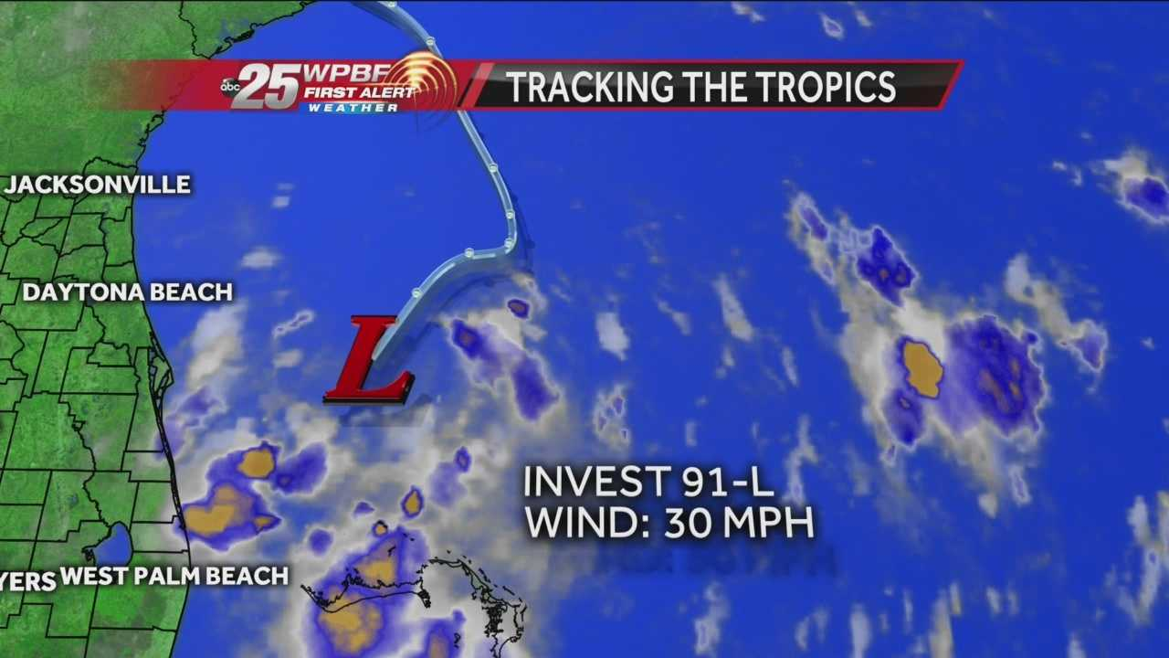 Latest forecast on tropical invest 91L