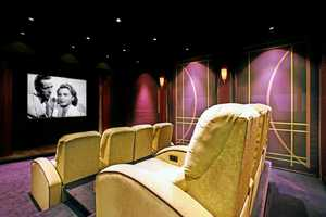 Chic home theater.
