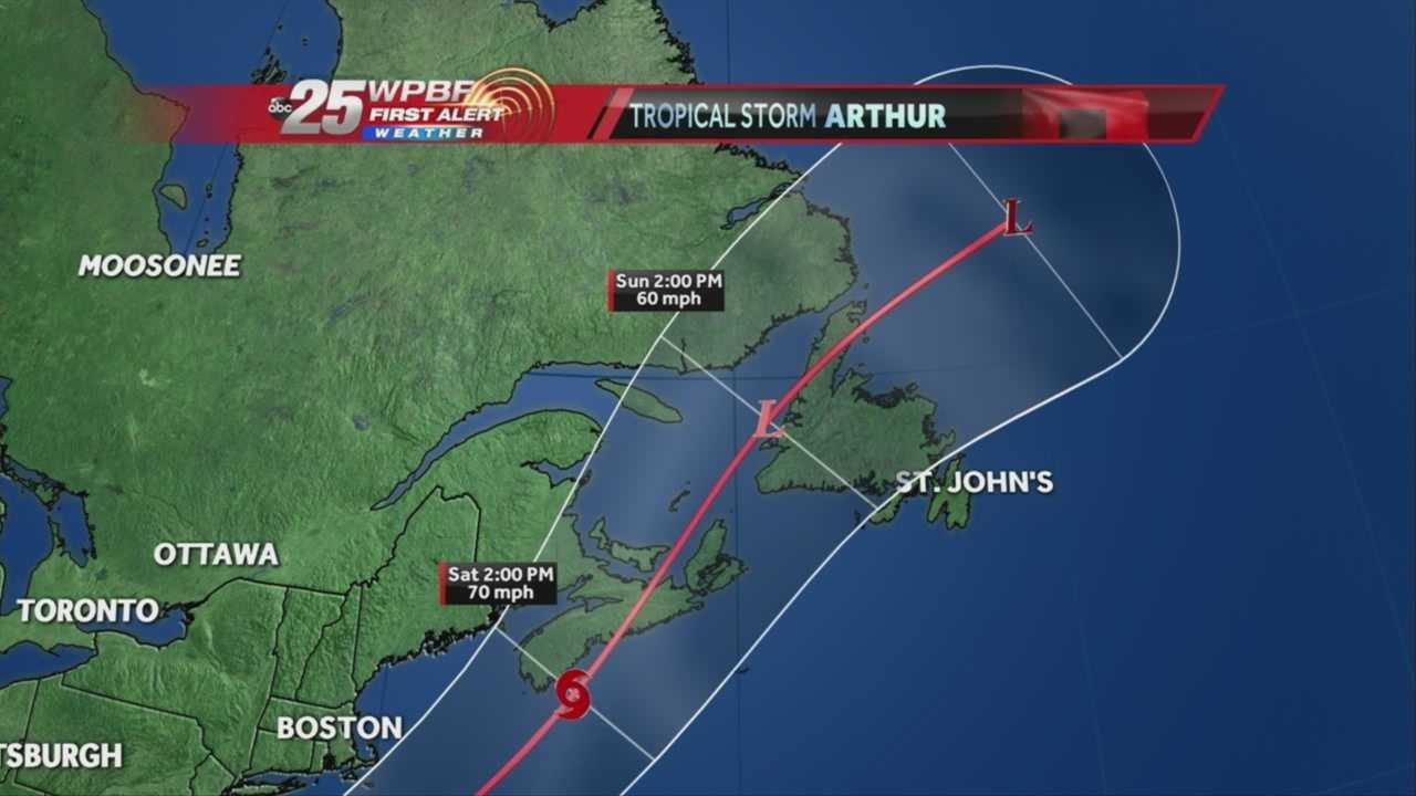 Tracking the Tropics: Latest forecast for tropical storm Arthur