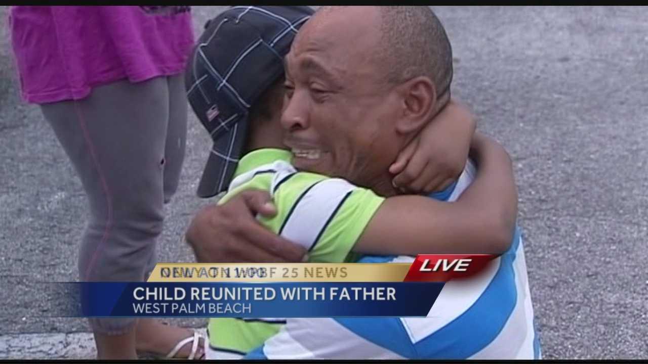 Emotional reunion as missing boy returns home