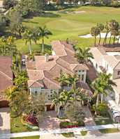 Aerial view of the .28 acre  Palm Beach Gardens property.