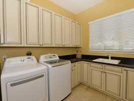 Full service laundry room.