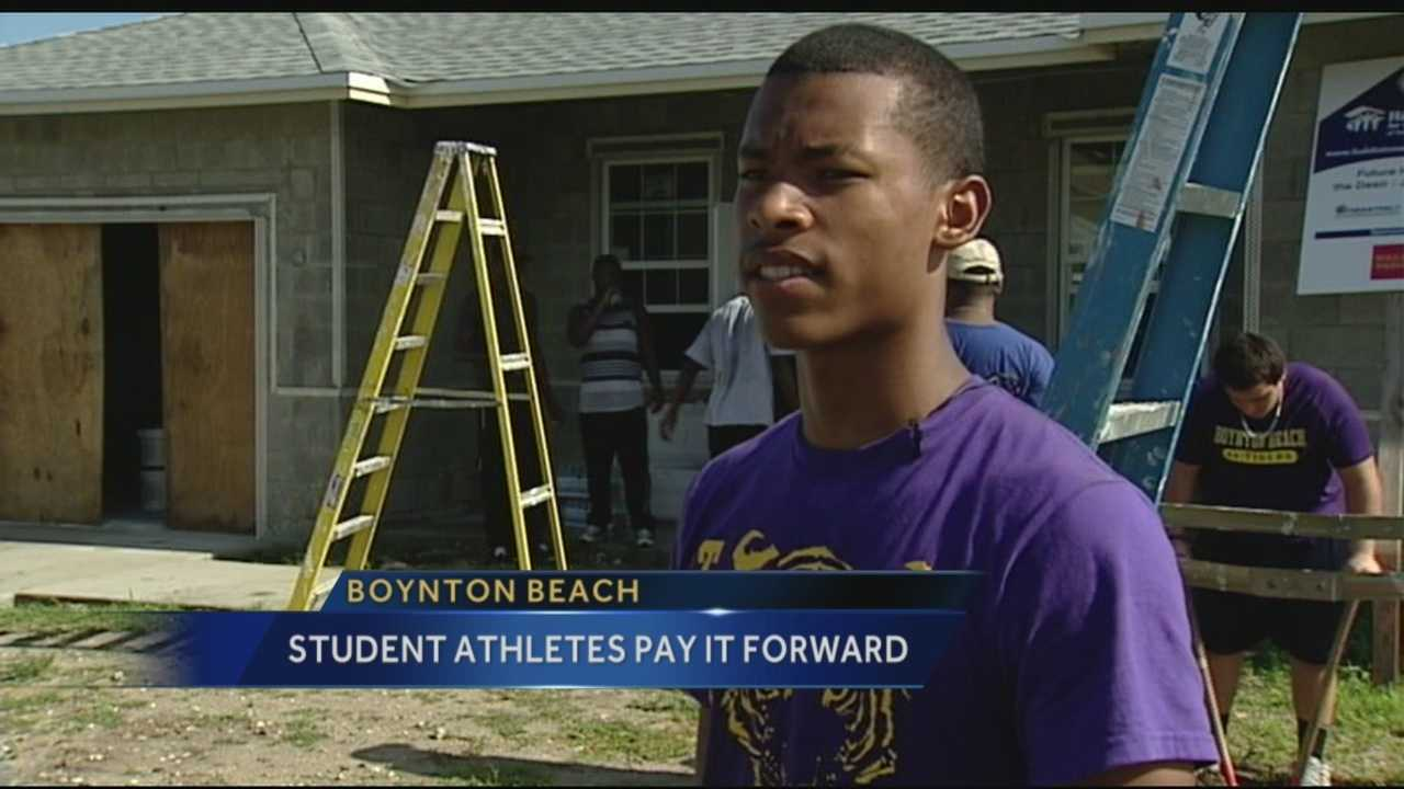 Thanks to a pilot program jump-started by the city police department, students are teaming up with Habitat for Humanity to build homes and raise much needed money for their sports teams.