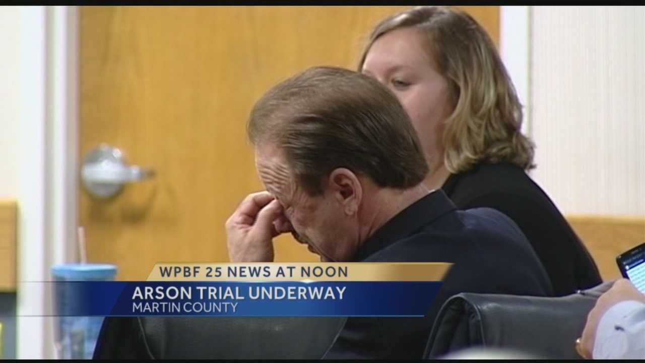 The arson trial got underway Wednesday morning for the man accused of torching his Martin County home in 2012 and injuring several firefighters.