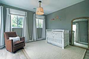 Welcome to the chic, calm, non-traditional nursery.