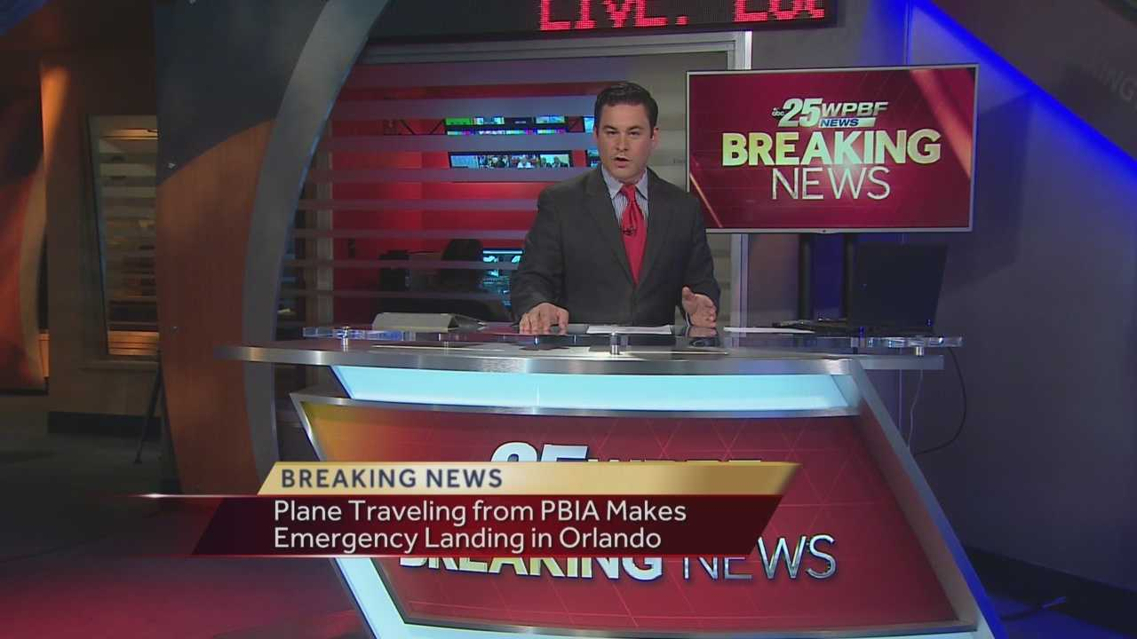Plane traveling from PBIA to JFK makes emergency landing in Orlando