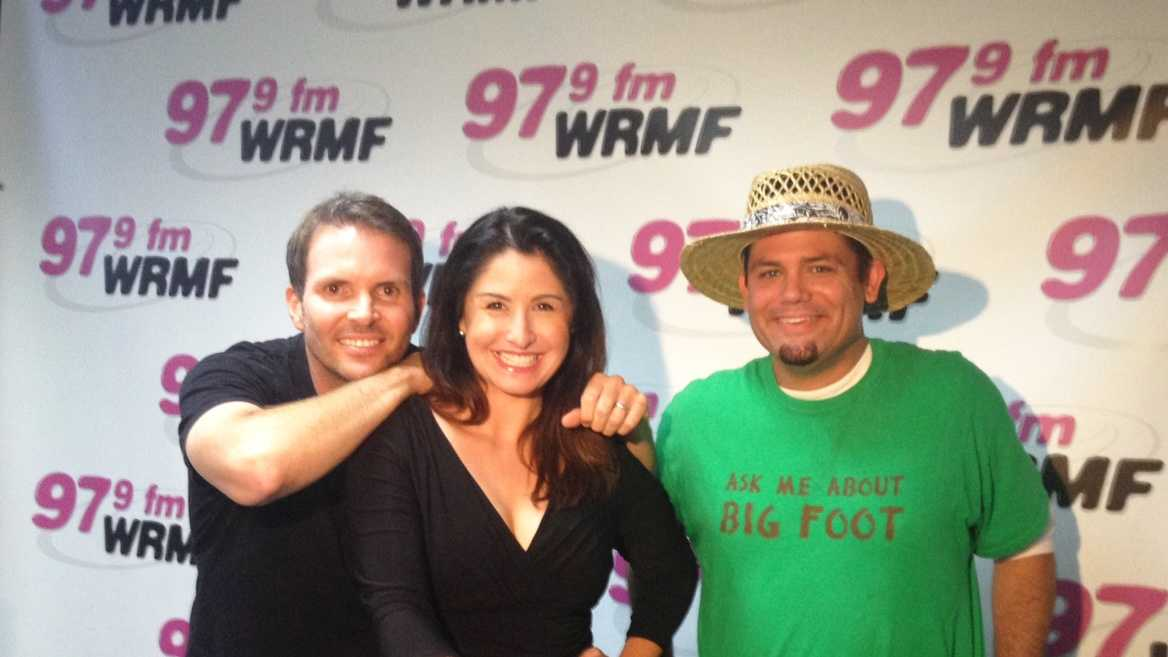 Kevin, Virginia and Jason during their first day back on-air in the Palm Beaches!