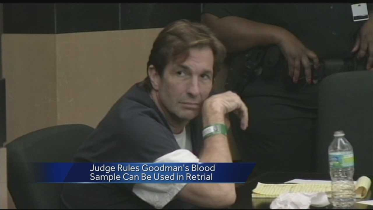A judge in Tallahassee has ruled John Goodman's blood sample will be admissible in court for the Wellington polo mogul's DUI manslaughter re-trial in October.