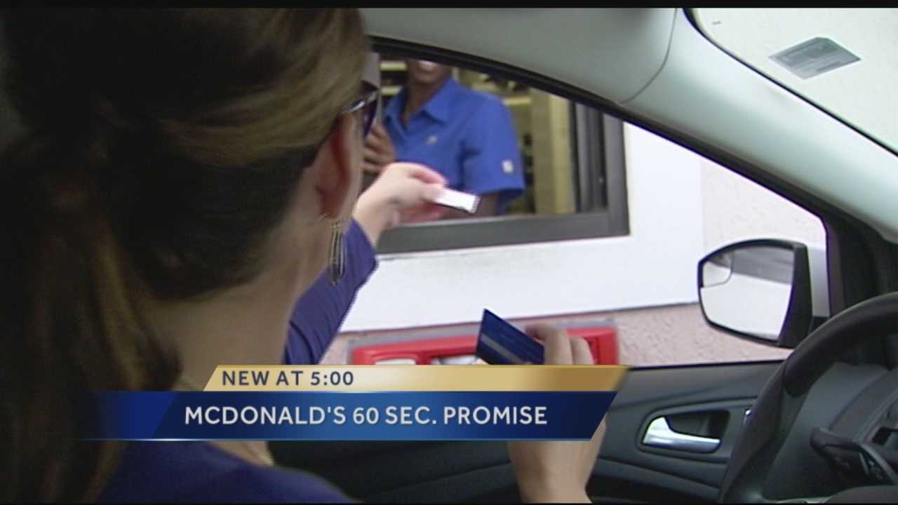McDonald's enacts 60-second lunch guarantee