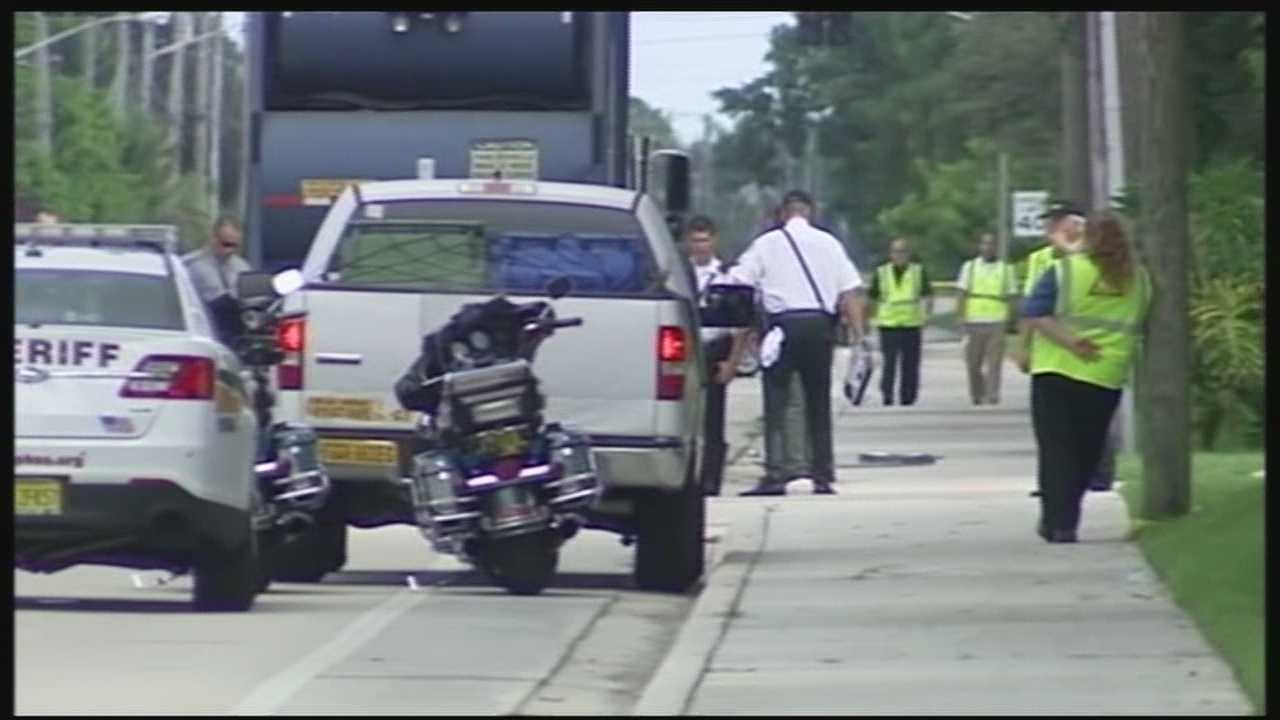 On Wednesday morning a male bicyclist was killed after being hit by a dump truck, according to Palm Beach County Fire and Rescue.