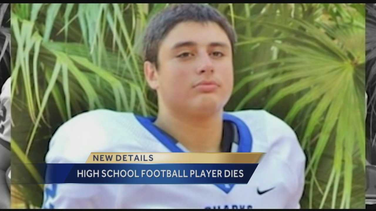 A community is trying to cope with the sudden loss of a high school football player. His mother calls him a gentle giant with a good heart and an infectious laugh. WPBF reporter John Dzenitis has the story.