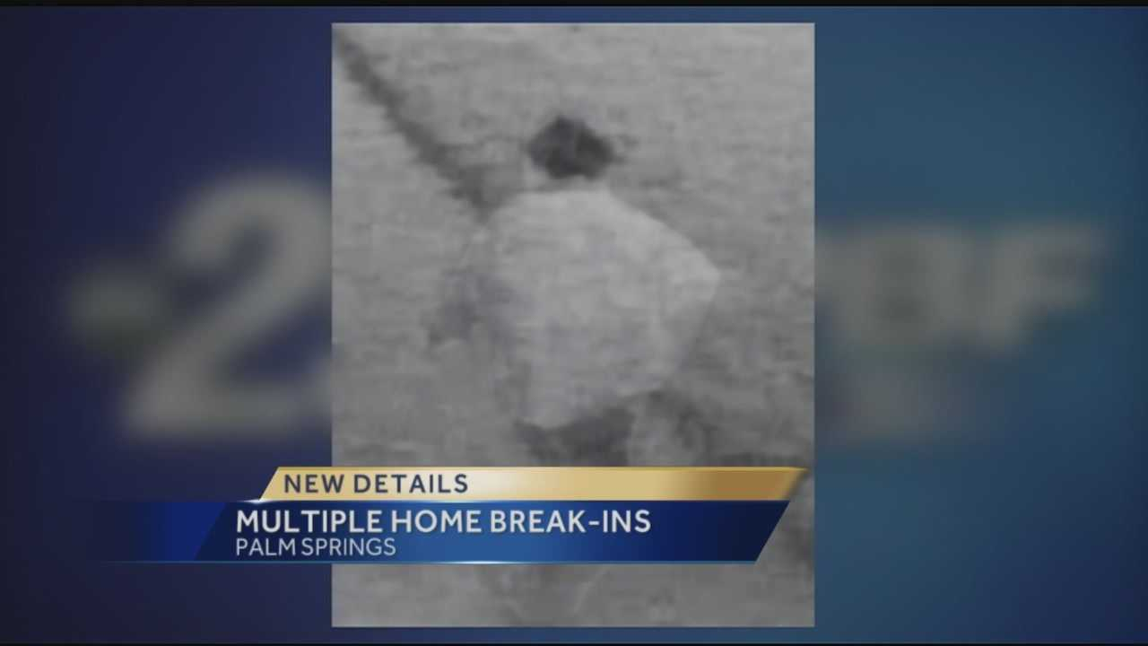 The Palm Springs Police Department has asked for help to locate a man who they said is responsible for a string of burglaries to homes. Investigators said they're very concerned because residents are home during the burglaries. Reporter Ari Hait has the story.