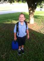 Zachary is heading to kindergarten-- From Teresa Goings