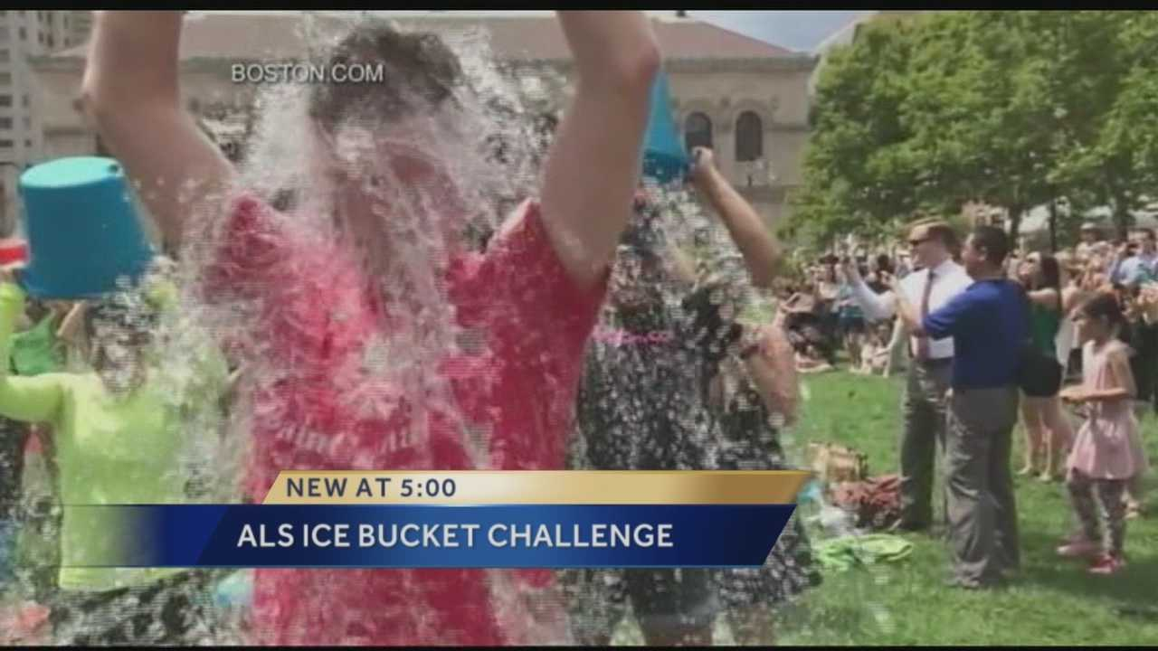 ALS ice bucket challenge gaining momentum