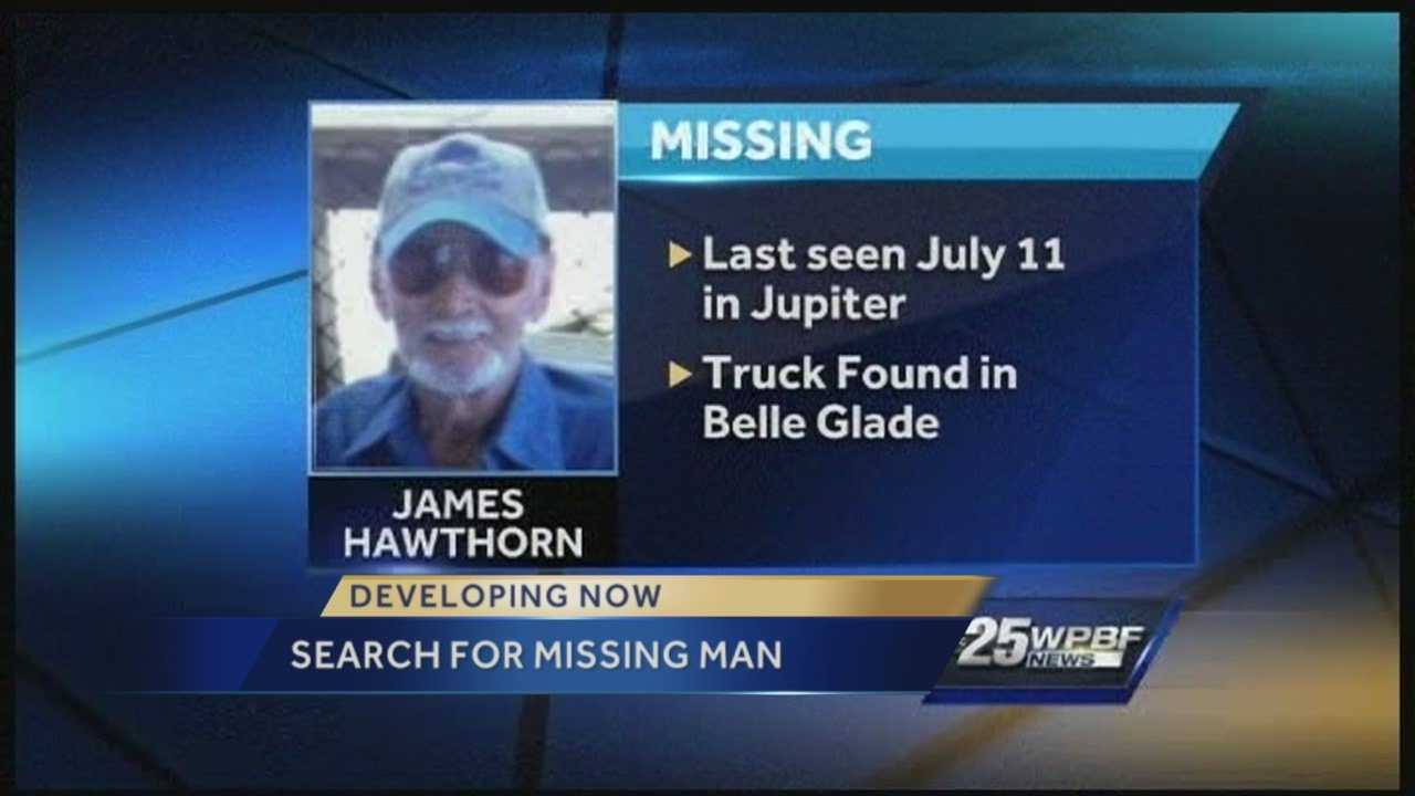 Police in Jupiter are still looking for a missing man. James Hawthorn was last east of Belle Glade near Airport Rd. On Tuesday his brother spoke with us about his brother's disappearance.