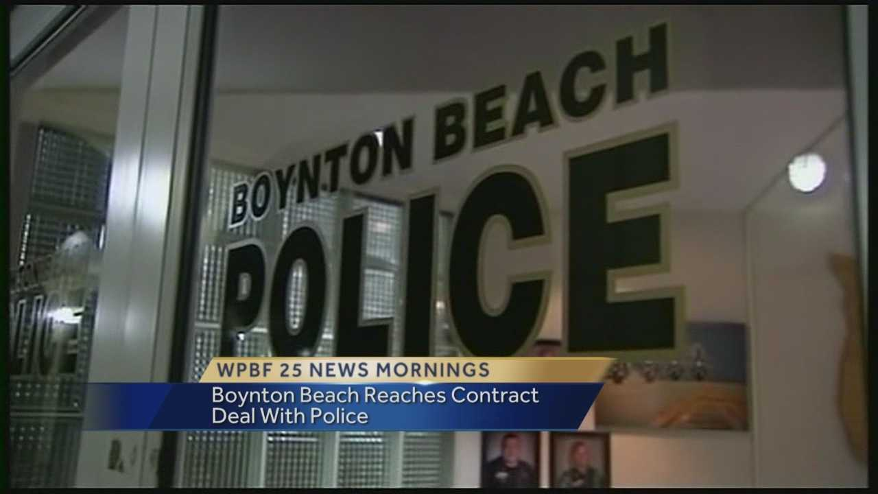 Commissioners in Boynton Beach Tuesday night unanimously approved a new collective bargaining agreement with the city's police department. Under the new deal, wages will be increased to help make up for a five year pay freeze. Reporter Chris Mcgrath has the latest update.