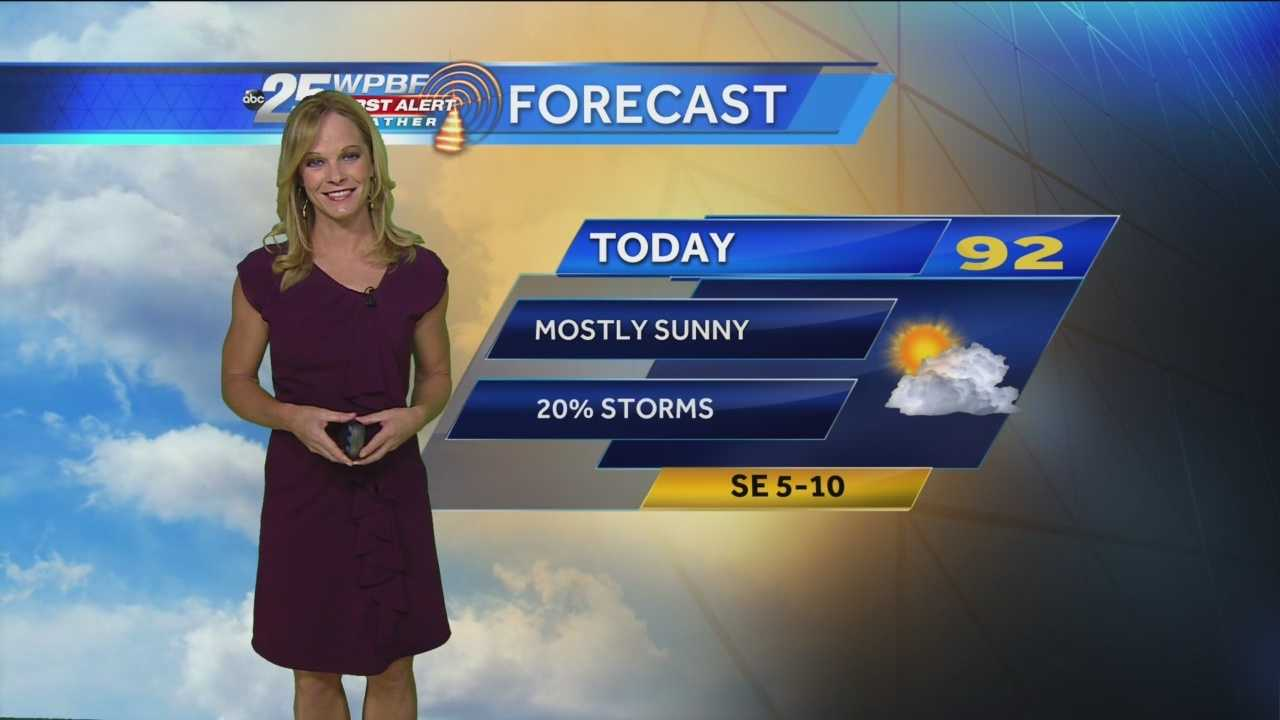Today it will be mostly sunny and hot, hot, hot! Ft. Pierce hit 95 yesterday! Sandra Shaw has your complete forecast!
