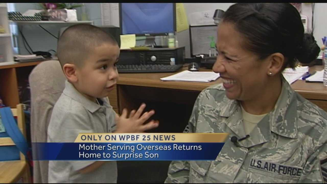 A pre-schooler at Coral Sunset Elementary in Boca Raton got quite the surprise this week. That surprise was a visit from his mom who has been serving overseas for a year. Erin Guy has the emotional reunion you'l only see on WPBF 25 News