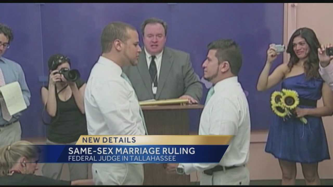 Federal judge strikes down gay marriage ban