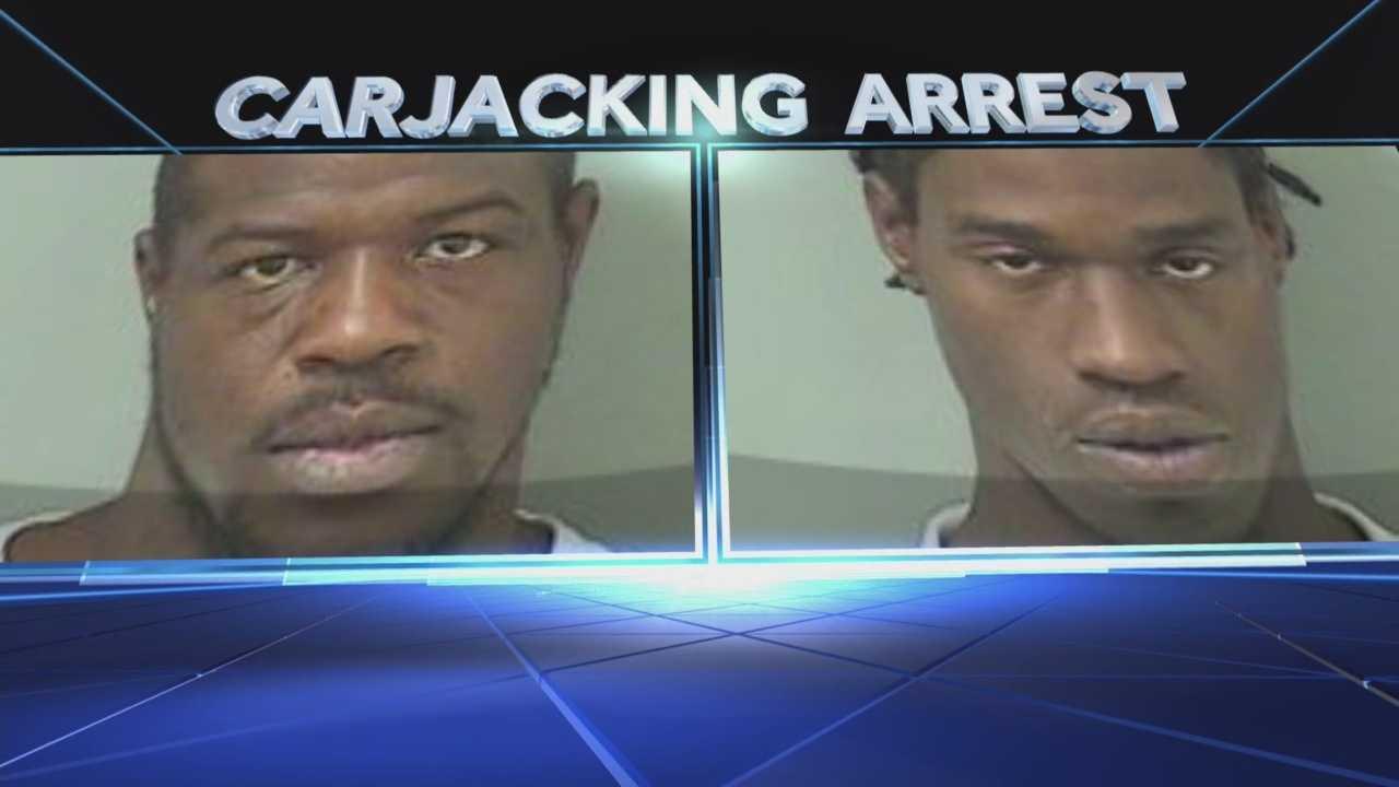 Men accused of carjacking elderly woman