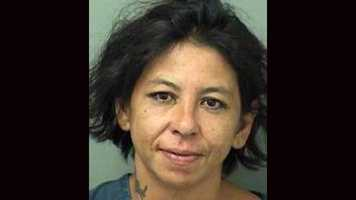 Andrea Dominguez faces a charge of first degree arson as well as criminal mischief charges, according to the Palm Beach County Sheriff's Office.