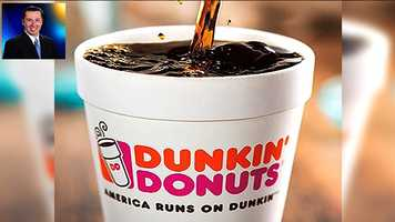 "WPBF 25 Reporter Chris McGrath's favorite things:""Then my second favorite thing as a morning shift person is Dunkin donuts coffee."""