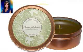 "WPBF 25 Reporter Terri Parker:""Pineapple Cilantro candle by Tommy Bahama – absolute favorite fragrance for the home. At the holidays I pair it with toasted cinnamon bun candles for a signature scrumptious tropical experience!"""