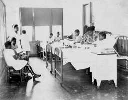 Brewster Hospital's children's ward in 1947. Brewster was Jacksonville's first hospital and nurses' training school for African-Americans.